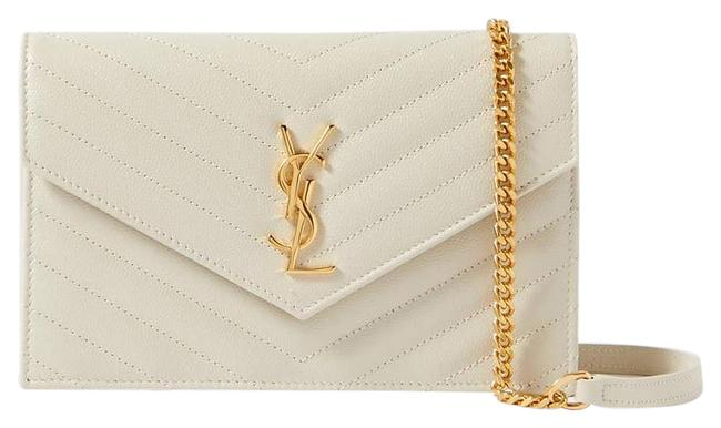 Item - Shoulder Monogramme Quilted Textured-leather Off-white Cross Body Bag
