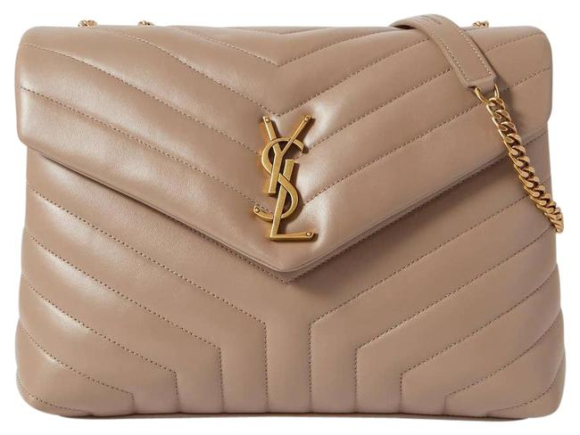 Item - Monogram Loulou Shoulder Medium Quilted Leather Taupe Cross Body Bag