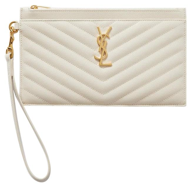 Item - Monogram Quilted Textured-leather Pouch Off-white Cross Body Bag