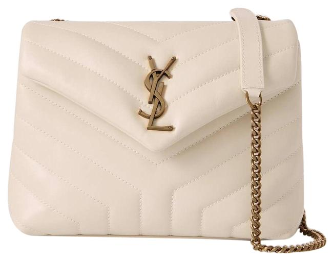 Item - Monogram Loulou Shoulder Small Quilted Leather White Cross Body Bag