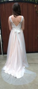 BHLDN Blush Tamsin Wedding Dress Size 6 (S)
