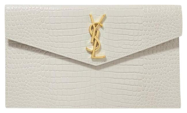 Item - Uptown Croc-effect Leather Pouch Off-white Cross Body Bag