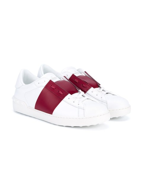 Item - Red White & Back Studded Open Sneakers Size EU 37 (Approx. US 7) Regular (M, B)