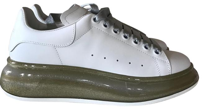 Item - White Leather Clear-sole Chunky Sneakers Size US 7.5 Regular (M, B)