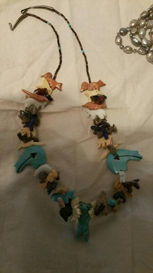 Other Native American Fetish Necklace Authentic genuine semiprecious stone