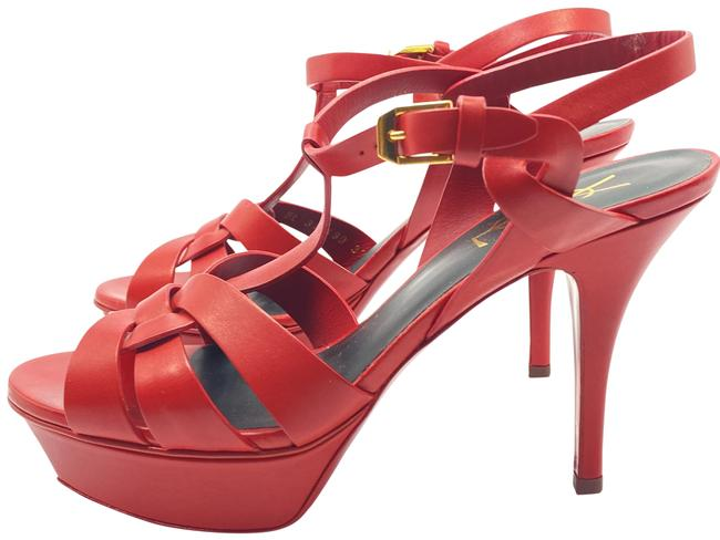 Item - Red Tribute Ysl Yves Leather Sandals Size EU 37 (Approx. US 7) Regular (M, B)