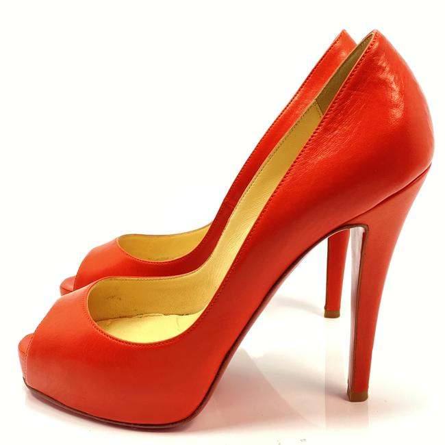 Item - Red Very Prive 120 Corail Leather Heels Pumps Size EU 35.5 (Approx. US 5.5) Regular (M, B)