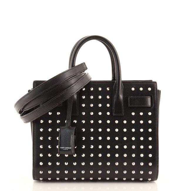 Item - Sac de Jour Studded Baby Black Leather Tote