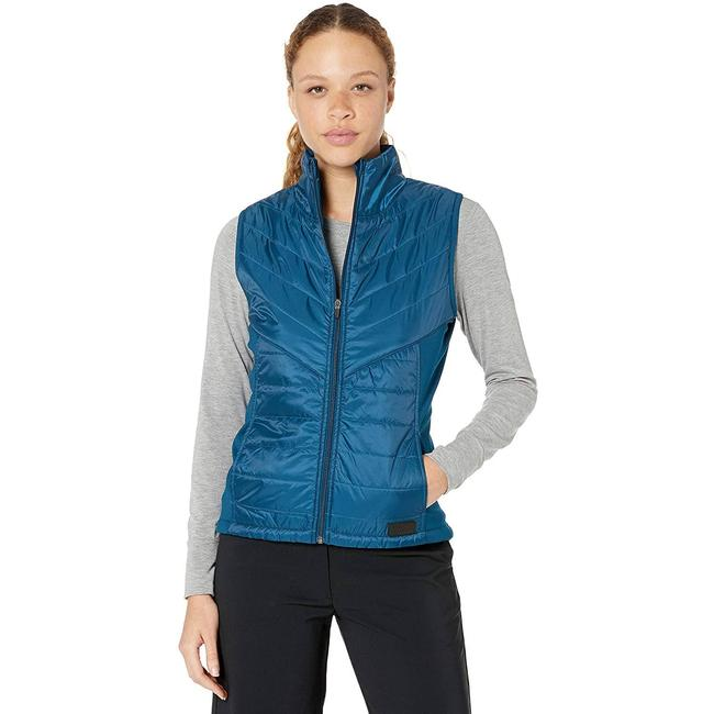 Item - Blue M Primaloft Golf Full Zip Quilted Puffer Gibraltar Sea Maternity Outerwear Size 8 (M)