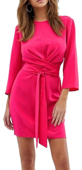 Item - Pink Length Mid-length Cocktail Dress Size 6 (S)