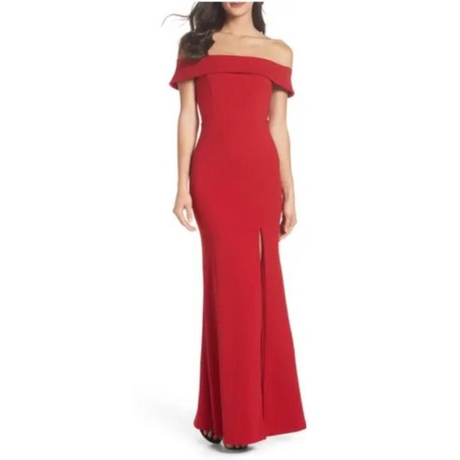 Item - Red Off The Shoulder Mermaid Gown Long Formal Dress Size 2 (XS)