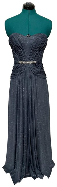 Item - Gray/Blue Gray/Blue Sparkling Evening Gown Long Formal Dress Size 2 (XS)