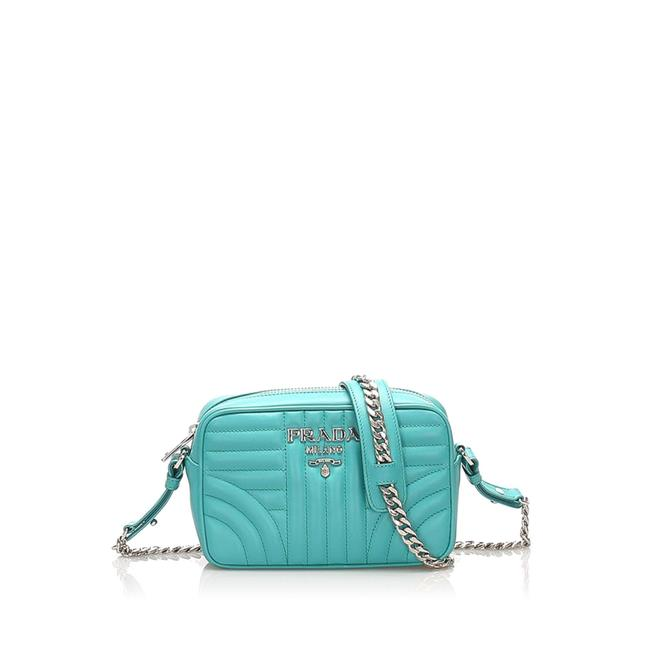 Item - Soft Calf Diagramme Green Leather Cross Body Bag