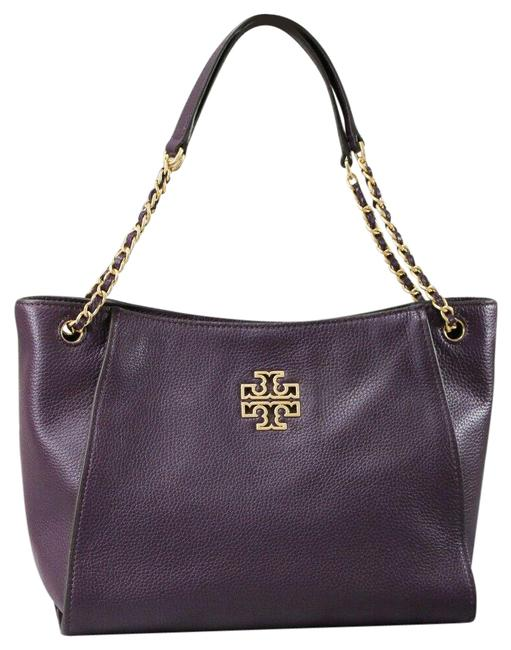 Item - Bag Britten (73503) Small Chain Slouchy New Plum Pebbled Leather Tote