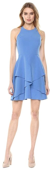 Item - Blue Tiered Skirt Short Casual Dress Size 10 (M)