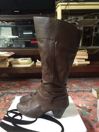 Bare Traps Buckle Tall Brown Boots