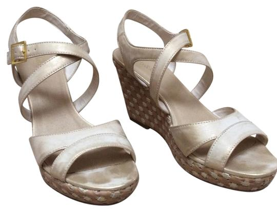 Kate & Kelly beige and gold Sandals