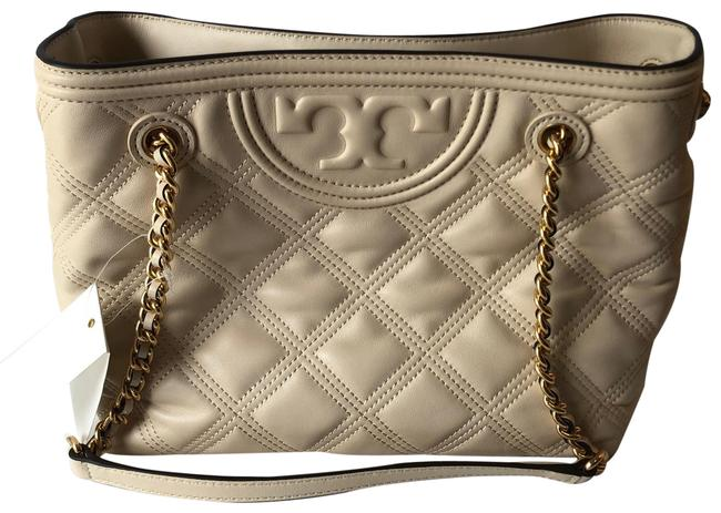 Item - Bag Fleming Soft Quilted White Cream Leather Tote