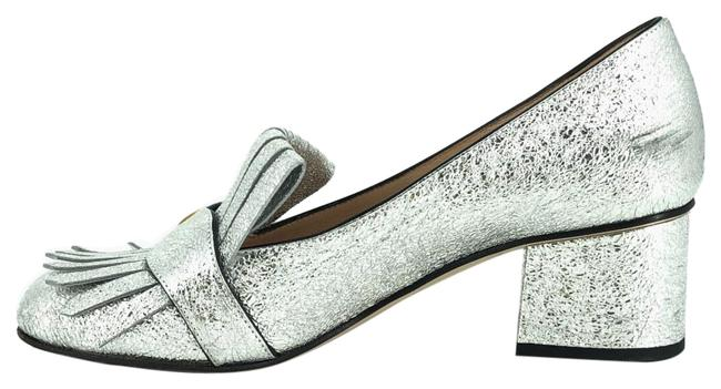 Item - Silver Marmont Metallic Leather Fringe Loafers #36554 Pumps Size EU 37 (Approx. US 7) Regular (M, B)
