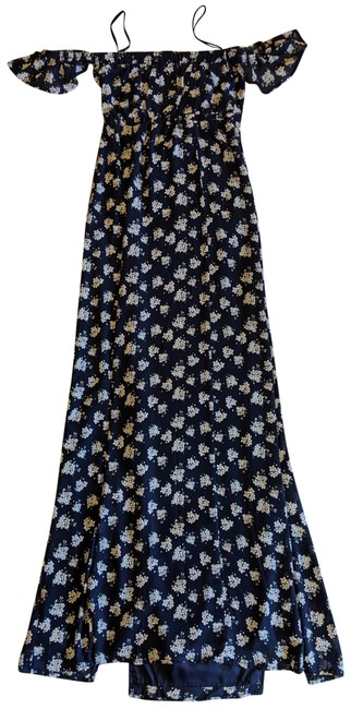 Item - Navy Multi Floral Long Casual Maxi Dress Size 4 (S)