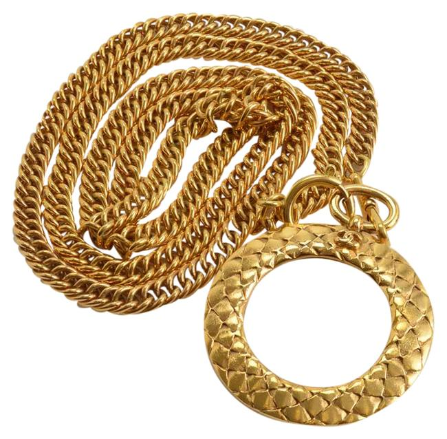 Item - Gold Rdc11586- Vintage Golden Chain Magnifying Glass Long Necklace