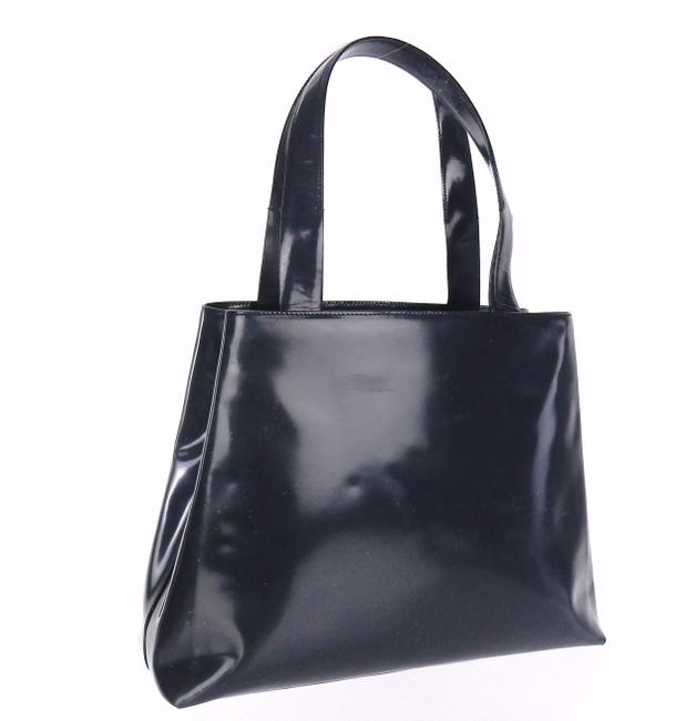 Item - Bag Gray Patent Leather Tote
