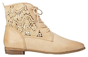 Forever 21 Woven Woven Faux Leather Taupe Lace Up 21 Cute Perfect Brand New Cream Neutral Tan Beige Beige Cream Tan Tan Beige Boots