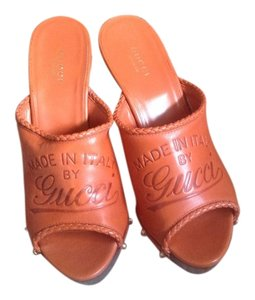 Gucci Burnt Orange Mules