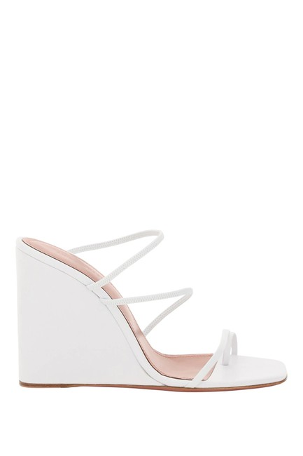 Item - White Naima Leather Wedge Sandals Size EU 39 (Approx. US 9) Regular (M, B)