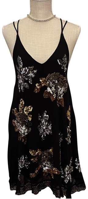 Item - Black Gypsy Moved Mid-length Short Casual Dress Size 12 (L)