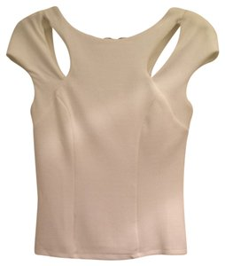 Bebe Lux Luxurious Lined New Top Off White