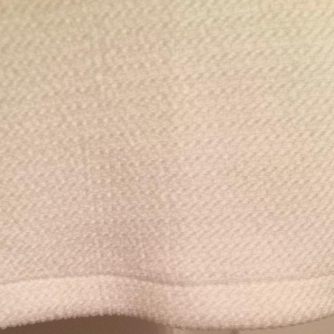 bebe Lux Luxurious Lined New Shirt Tee Cap Sleeve Capsleeve Sleeves Geometric Top Off White