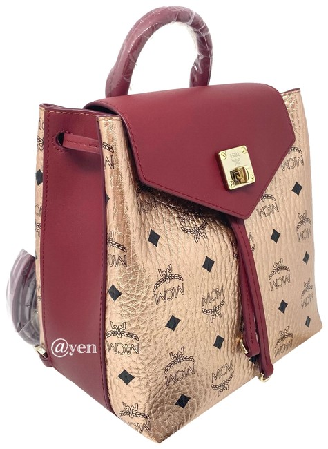 Item - Crossbody Essential / Rose Gold Leather Backpack
