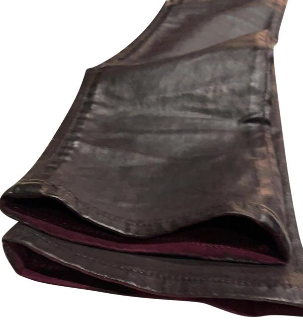 Item - Oxblood Coated Skinny Jeans Size 27 (4, S)