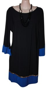 MSK short dress Black/Blue Trim on Tradesy