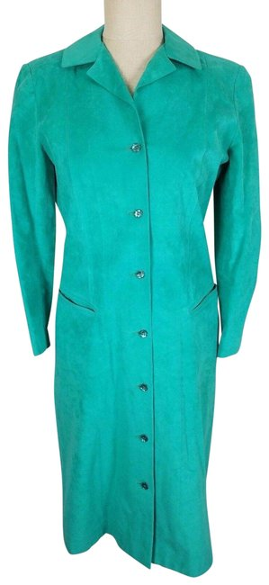 Green Peter Hatsi Androu Vegan Suede Brushed Mid-length Work/Office Dress Size 10 (M) Green Peter Hatsi Androu Vegan Suede Brushed Mid-length Work/Office Dress Size 10 (M) Image 1