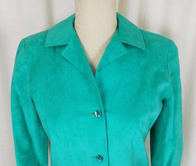 Green Peter Hatsi Androu Vegan Suede Brushed Mid-length Work/Office Dress Size 10 (M) Green Peter Hatsi Androu Vegan Suede Brushed Mid-length Work/Office Dress Size 10 (M) Image 2
