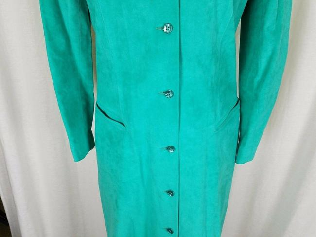 Green Peter Hatsi Androu Vegan Suede Brushed Mid-length Work/Office Dress Size 10 (M) Green Peter Hatsi Androu Vegan Suede Brushed Mid-length Work/Office Dress Size 10 (M) Image 3