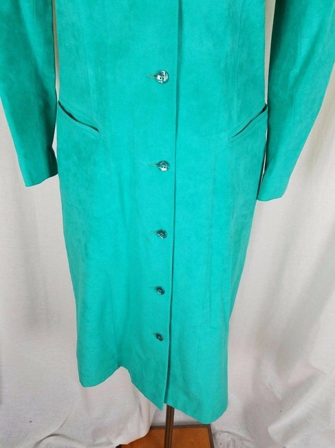 Green Peter Hatsi Androu Vegan Suede Brushed Mid-length Work/Office Dress Size 10 (M) Green Peter Hatsi Androu Vegan Suede Brushed Mid-length Work/Office Dress Size 10 (M) Image 4