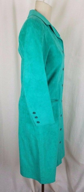 Green Peter Hatsi Androu Vegan Suede Brushed Mid-length Work/Office Dress Size 10 (M) Green Peter Hatsi Androu Vegan Suede Brushed Mid-length Work/Office Dress Size 10 (M) Image 5