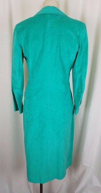 Green Peter Hatsi Androu Vegan Suede Brushed Mid-length Work/Office Dress Size 10 (M) Green Peter Hatsi Androu Vegan Suede Brushed Mid-length Work/Office Dress Size 10 (M) Image 6