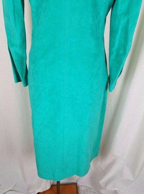Green Peter Hatsi Androu Vegan Suede Brushed Mid-length Work/Office Dress Size 10 (M) Green Peter Hatsi Androu Vegan Suede Brushed Mid-length Work/Office Dress Size 10 (M) Image 8