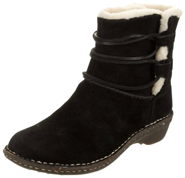 Item - Black Suede Shearling Duck Ankle Snow Boots/Booties Size US 8 Regular (M, B)