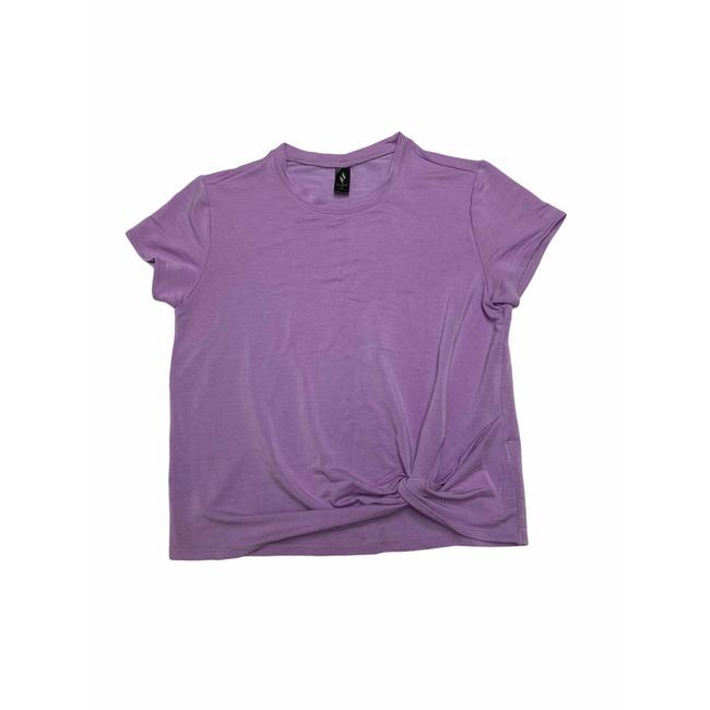 Item - Purple Skechluxe Knotted Front Lilac Sleeve Tee Shirt Size 8 (M)