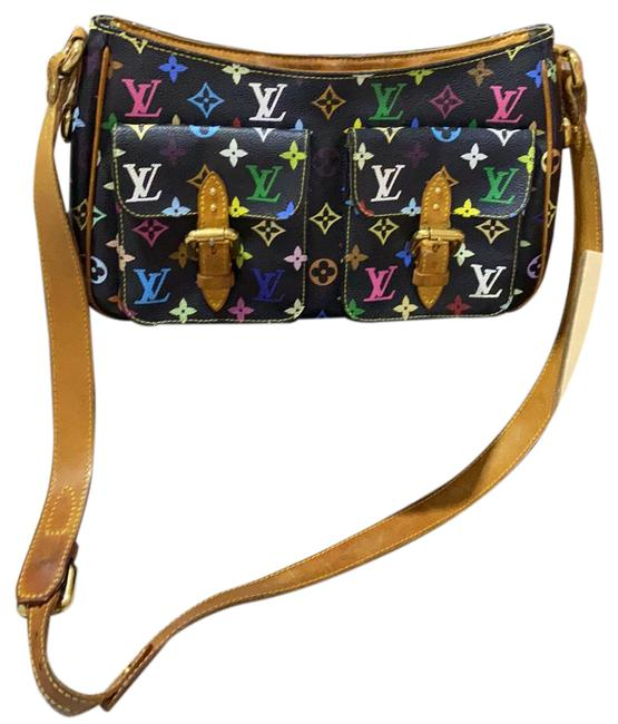 Item - Lodge Ab Pm Black and Multi Color Coated Canvas & Leather Cross Body Bag