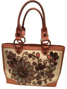 Isabella Fiore Beaded Woven Shoulder Bag