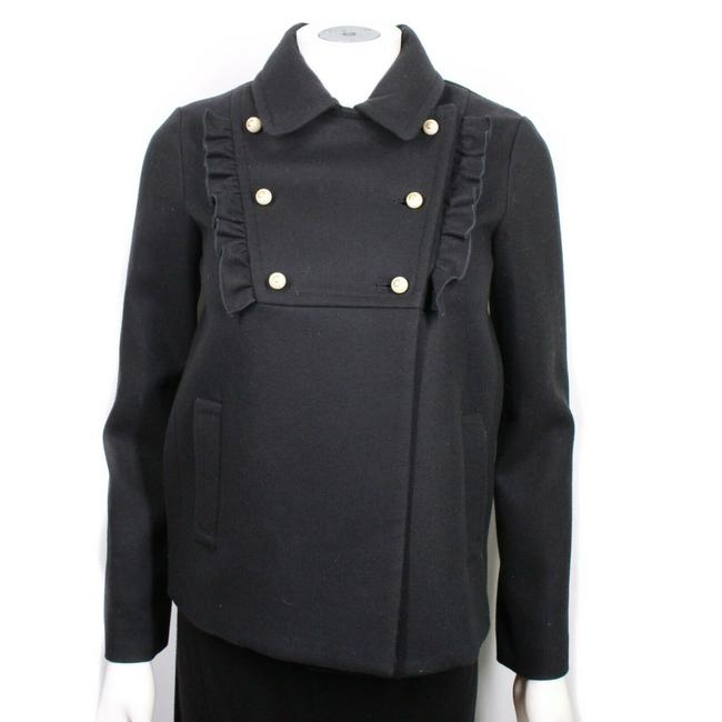 Item - Black New: Pearl Gg Jacket Double Breasted Girls It 36 Us 00 Coat Size 12 (L)