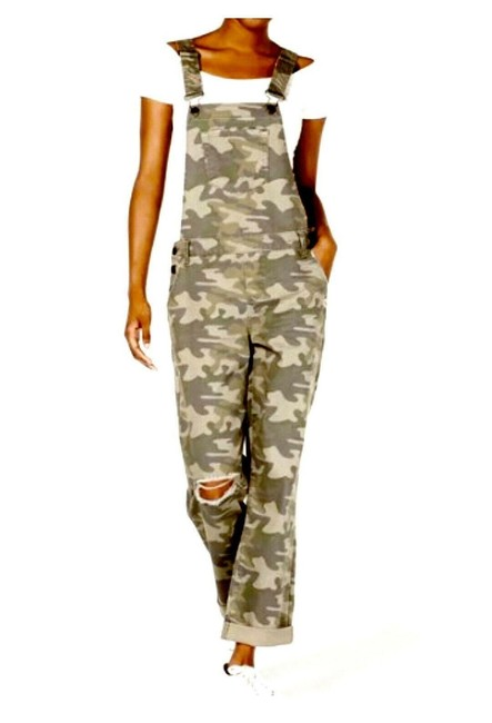 Item - Green Cotton Camouflage Overalls Size 3 Romper/Jumpsuit
