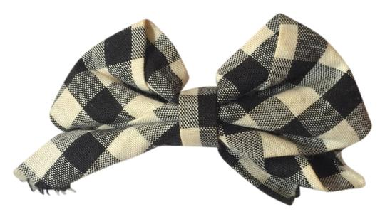 Other Black and White Plaid Bow