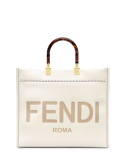 Item - Sunshine Medium Leather-trimmed Embroidered Canvas Off-white Leather Tote
